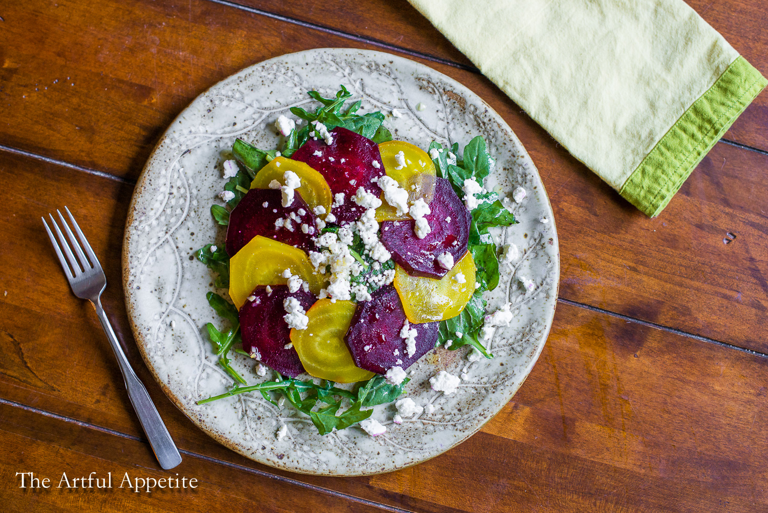 Beet Arugula Goat Cheese Salad | The Artful Appetite