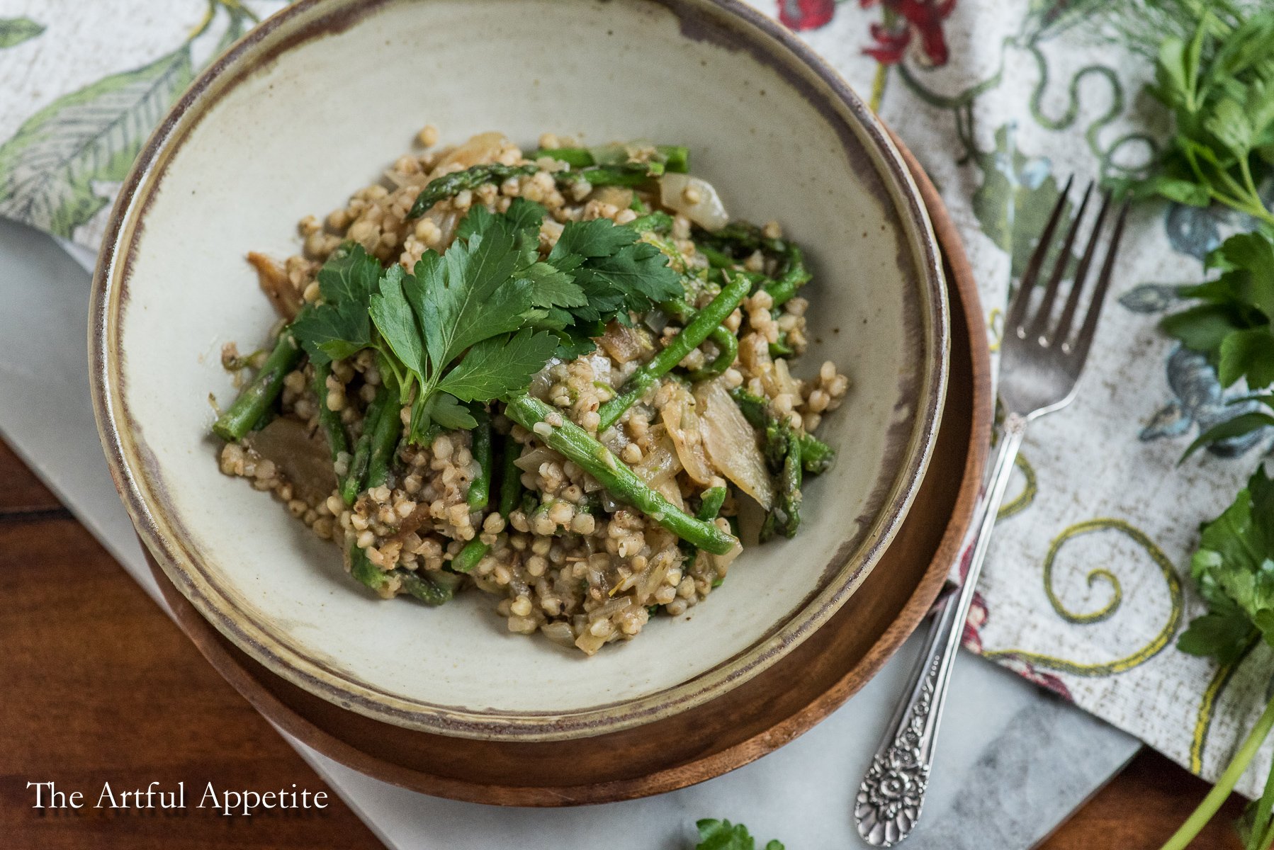 Asparagus Fennel Buckwheat Risotto
