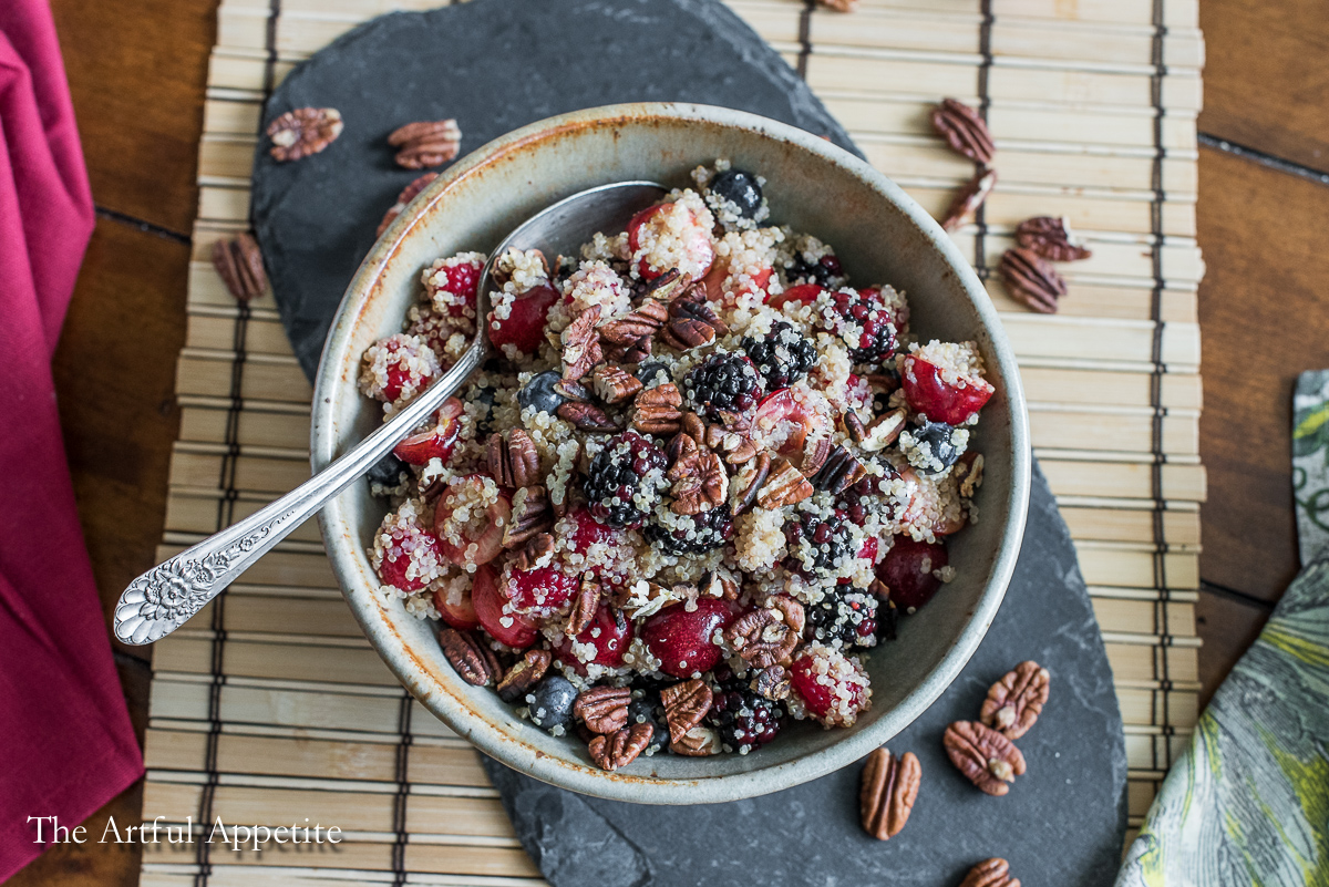 Quinoa Berry Cherry Salad {vegan and gluten free}